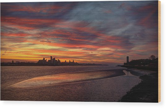 Liverpool Skyline Wood Print