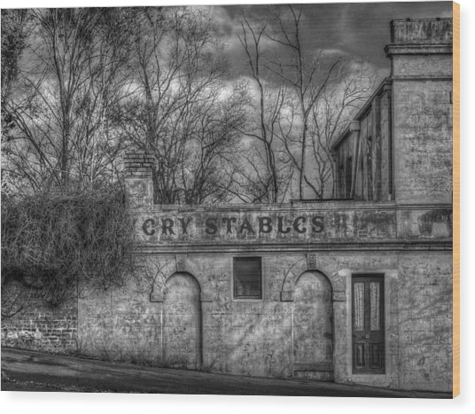 Livery Stables Wood Print