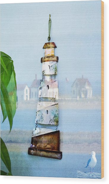 Living By The Sea - Pacific Ocean Wood Print