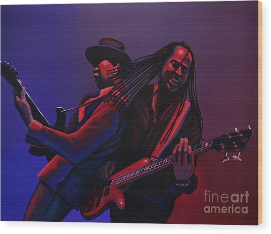 Living Colour Painting Wood Print