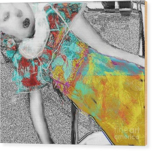 living Doll Wood Print by Rc Rcd