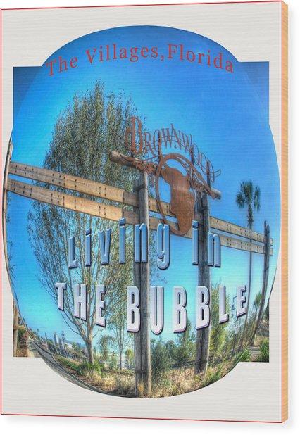 Living In The Bubble Brownwood Wood Print by Wynn Davis-Shanks
