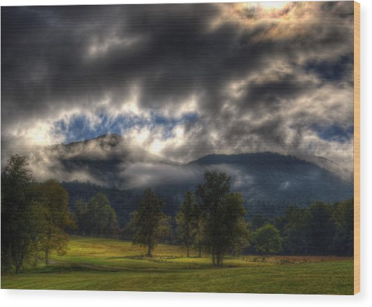 Living In The Clouds Of Western North Carolina Wood Print