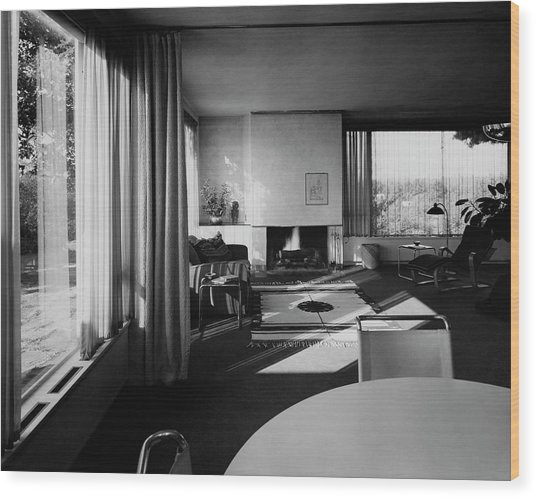 Living Room In Mr. And Mrs. Walter Gropius' House Wood Print