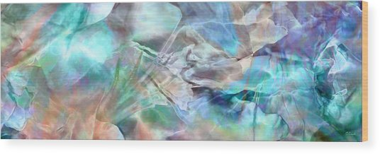Wood Print featuring the painting Living Waters - Abstract Art by Jaison Cianelli