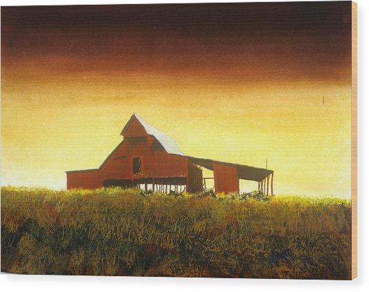 Livingston Co. Red Wood Print