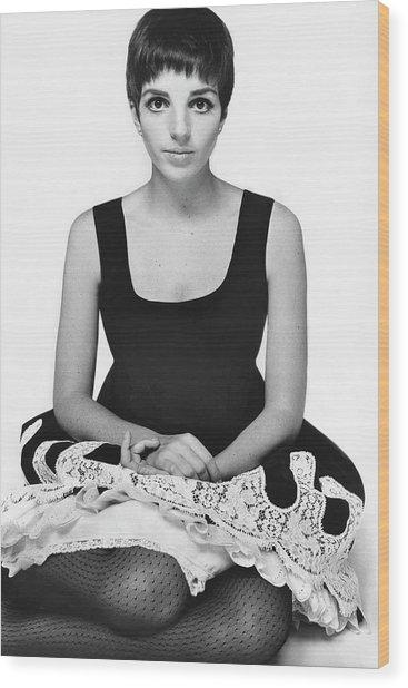 Liza Minnelli Wearing A Robert Leader Dress Wood Print