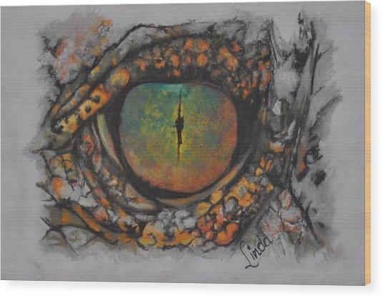 Lizards Eye Wood Print
