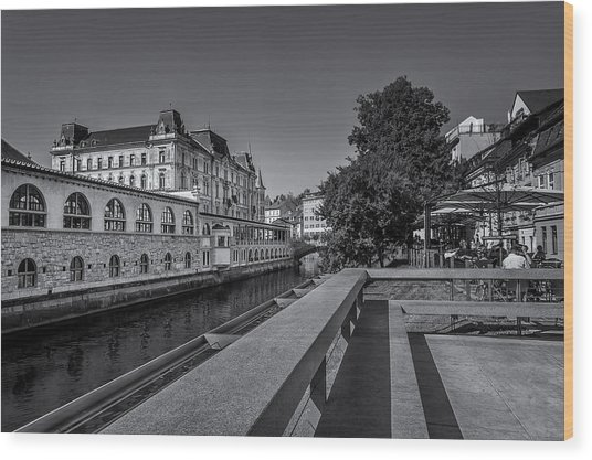 Ljubljana - Central Market Wood Print