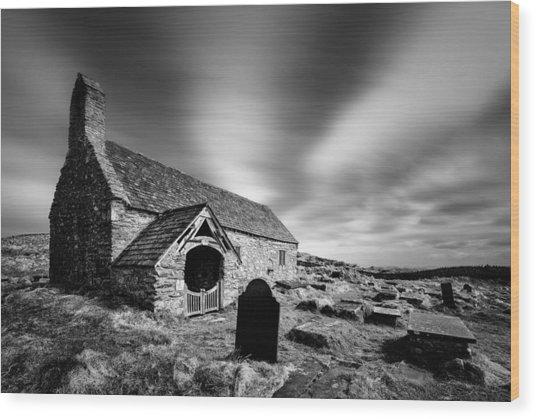 Llangelynnin Church Wood Print