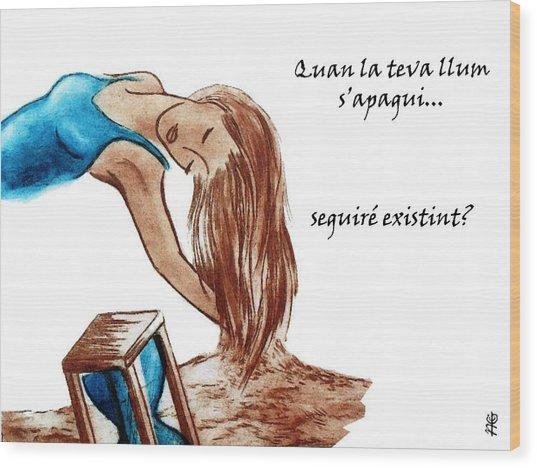 Llibre De Poemes En Catala - Llunes Blaves Wood Print by Arte Venezia