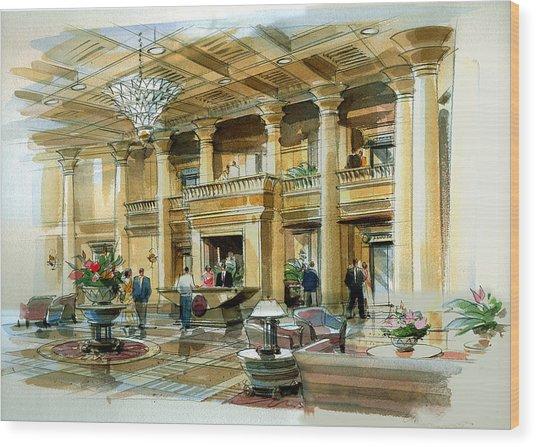 Lobby Concept Atlanta Wood Print by Jack Adams