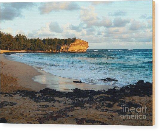 Local Surf Spot Kauai Wood Print