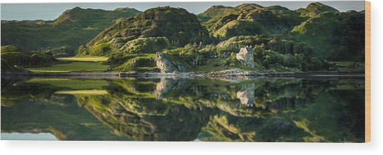 Loch Crinan Scotland And Duntrune Castle Wood Print