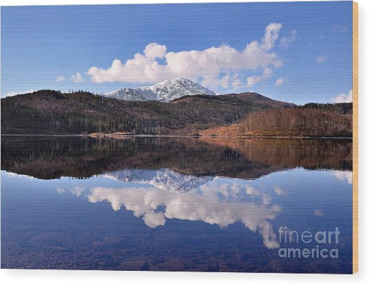 Loch Lomond Wood Print by Aditya Misra
