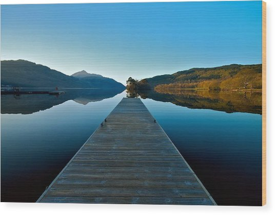 Loch Lomond In The Morning Wood Print