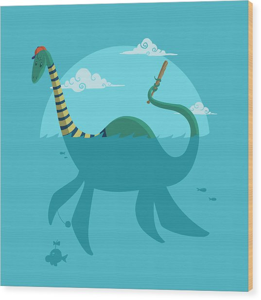 Loch Ness Monster Wood Print