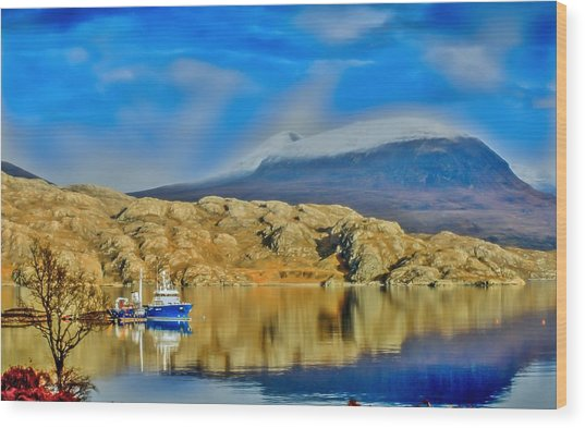 Loch Shieldaig In Assynt In The Scottish Highlands Wood Print by Tylie Duff
