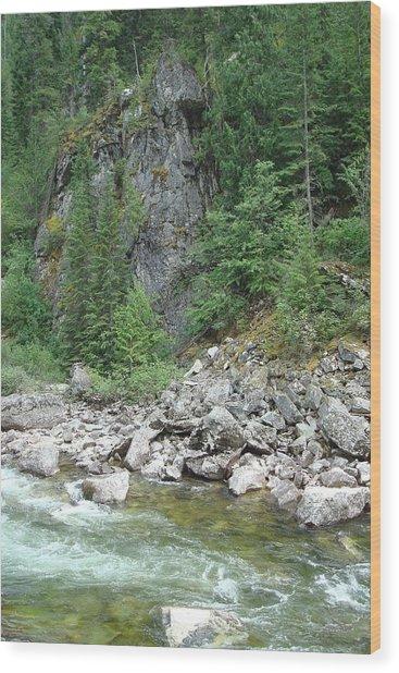 Lochsa River Wood Print