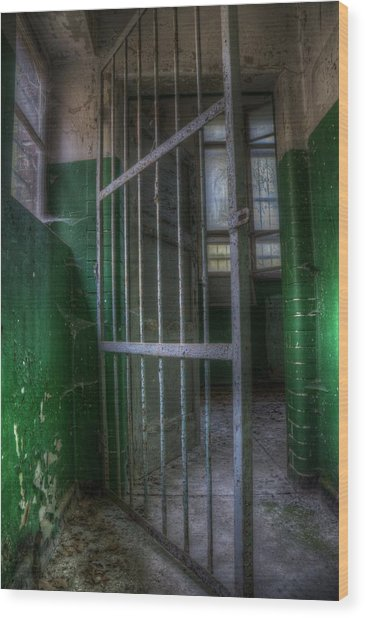 Lock Up Wood Print