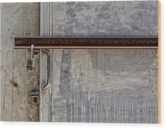 Locked And Barred Wood Print by Robert Ullmann