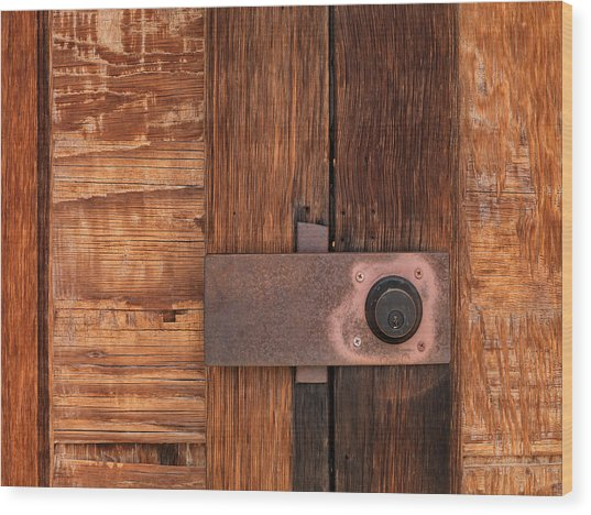 Locked Wood Print by Leland D Howard