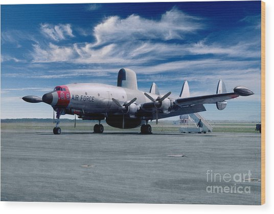 Lockheed Ec-121 Warning Star Early Warning Aircraft Wood Print