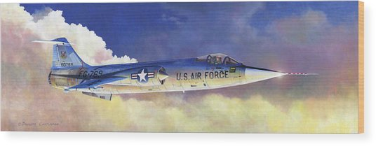 Lockheed F-104a Starfighter Wood Print