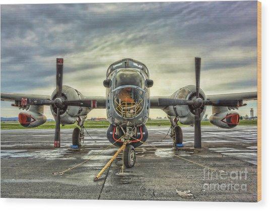 Lockheed P-2 Neptune Gunship Wood Print