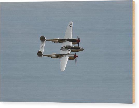 Lockheed P 38 Lightning Wood Print