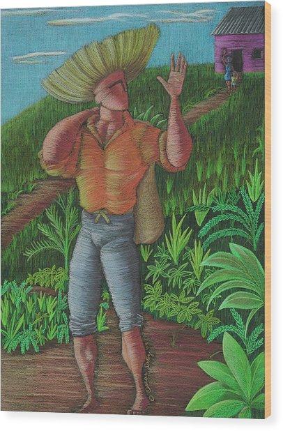 Loco De Contento Wood Print