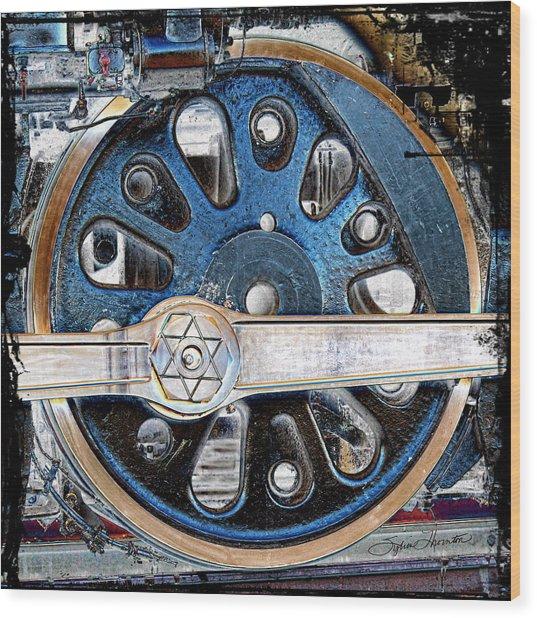 Loco Wheel Wood Print