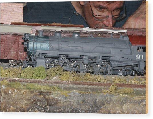 Locomotive 91 Wood Print by Hugh McClean