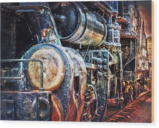 Locomotive Wood Print