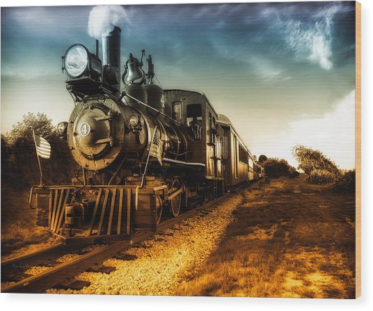 Locomotive Number 4 Wood Print
