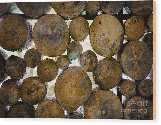 Log Stack Wood Print by Receb Parsel