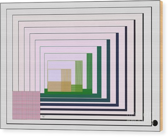 Logical Record Wood Print by Leo Symon