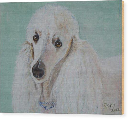 Lola Blue - Painting Wood Print