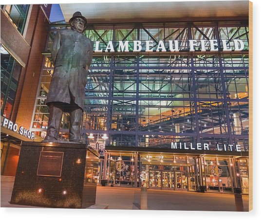 Lombardi At Lambeau Wood Print