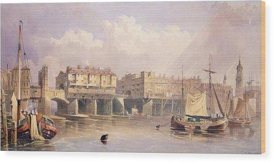 London Bridge, 1835 Wood Print