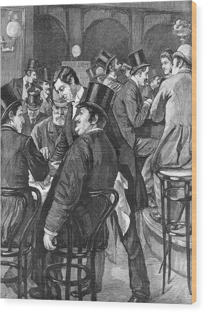 London Businessmen At Lunch, 1891 Wood Print by  Illustrated London News Ltd/Mar