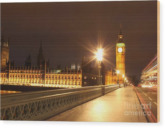 London By Night Wood Print