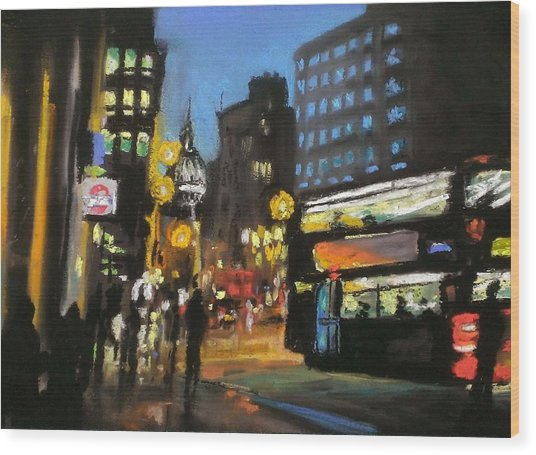 New York Taxi Street City Canvas Wall Art Picture Print Va: London City At Night Pastel By Paul Mitchell