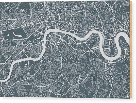London City Map Wood Print by Mattjeacock