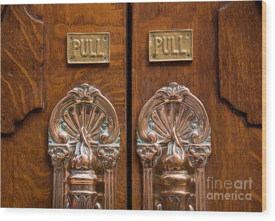 London Coliseum Doors 02 Wood Print