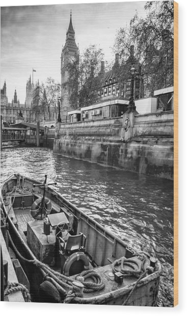 London Dock Wood Print