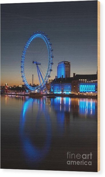 London Eye 2 Wood Print