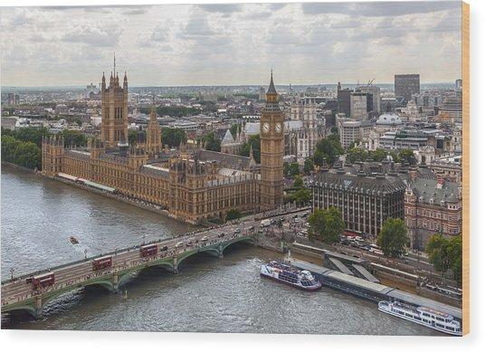 London Parliament Wood Print