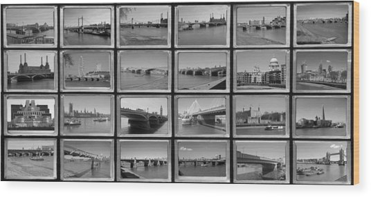 London Thames Bridges Wood Print