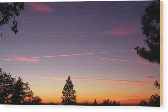 Lone Pine Wood Print